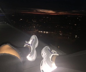 nike, light, and shoes image