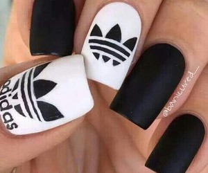 adidas, nails, and black image