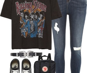 bag, belt, and rolling stones image