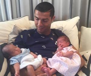 twins, baby, and cristiano ronaldo image