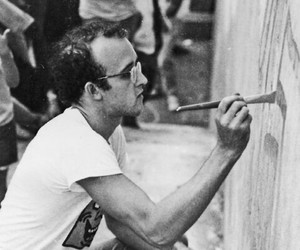 art, black and white, and keith haring image