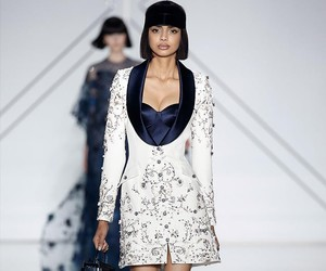 chic, navy, and jewelled image