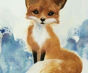 art, fox, and paint image