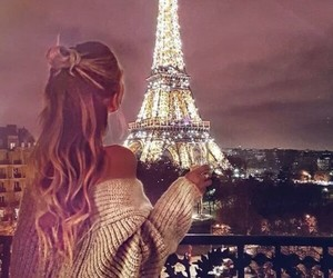 paris, hair, and travel image