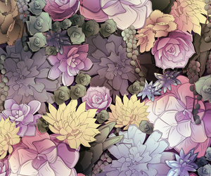 background, floral, and pastel image