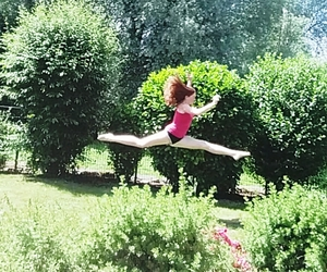 flexible, girl, and spring image