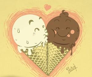 amor, Besos, and helado image