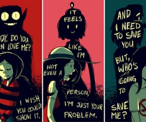 marceline, aventure time, and soy tu problema image