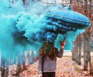 blue, umbrella, and photography image
