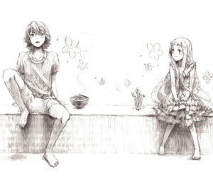 anime, ano hana, and couple image