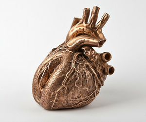 gold, aesthetic, and heart image