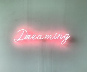 dreaming, neon, and pink image