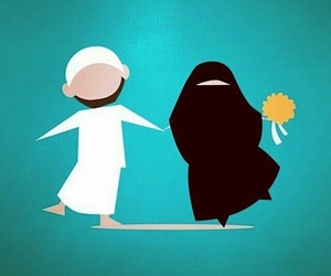 marriage, muslim, and love image