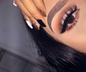 eyebrows, nails, and eyeshadow image