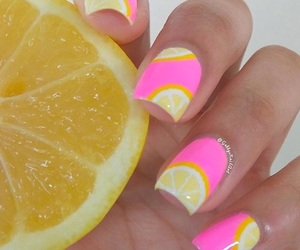 beauty, manicure, and citrus image