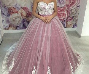 ball gown, sweetheart, and lace evening dresses image