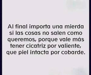 frases, piel, and valiente image