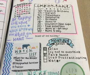 journals, spread, and to do list image
