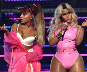 ariana grande, nicki minaj, and pink image