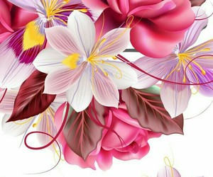 background, flowers, and brown image
