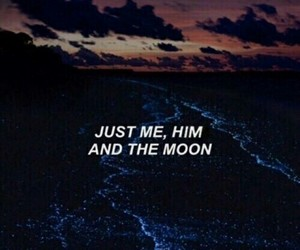 quotes, moon, and Lyrics image