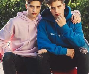 boy, twins, and martínez twins image