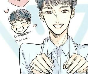 DK, fanart, and kpop image