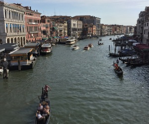 canal, grande, and gondola image