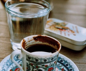 coffee, water, and cigarette image