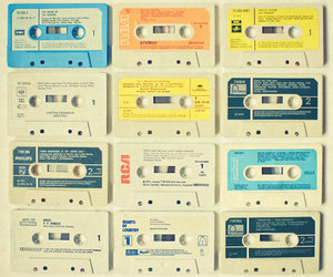 music, tape, and vintage image