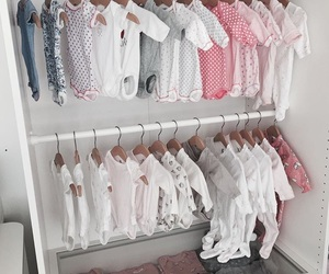 baby, closet, and clothe image