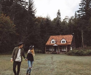 love, couple, and house image