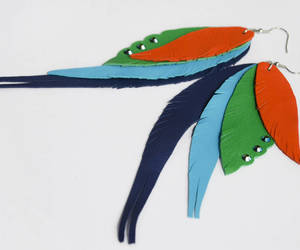 etsy, feathers, and parrots image