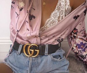 bra, outfit, and jeans image