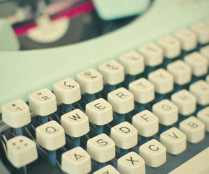 pastel, typewriter, and vintage image