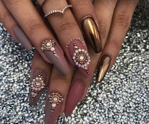 beautiful, gold, and nails image