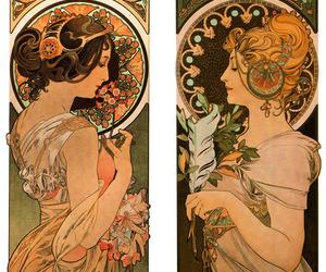 Art Nouveau, art, and mucha image