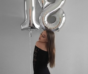 18, balloons, and birthday image