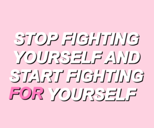 fighting, pastel, and love yourself image