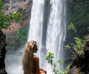 hawaii, waterfall, and alliemichellel image