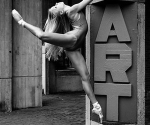 ballett, black and white, and dance image