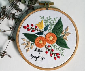 embroidery, etsy, and home decor image