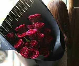 bouquets, flower, and red image