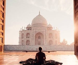 travel, taj mahal, and beautiful image