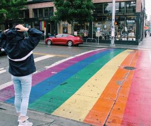 rainbow, lgbt, and pride image