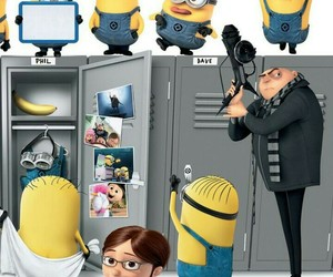 minions, despicable me, and phone image