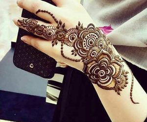 design, hands, and henna image
