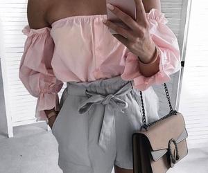 fashion, grey, and pink image