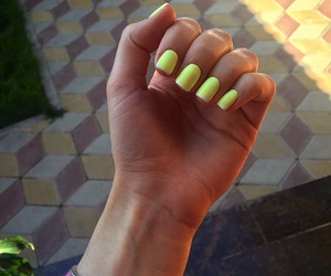 beauty, nails, and yellow image