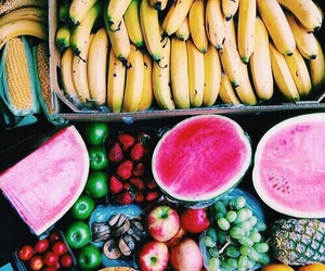 beach, fruit, and bright image